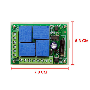 Image 5 - Rubrum 433MHz Universal Wireless Remote Control DC 12V 4CH RF Relay Receiver Module Switch For Gate Garage Door Opener Car DIY