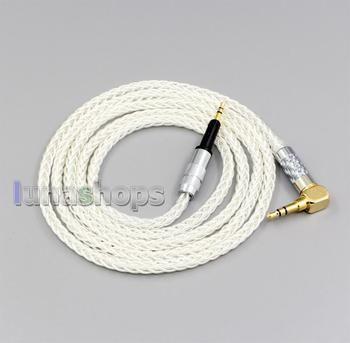 LN006782 4.4mm 3.5mm XLR 2.5mm 99% Pure Silver 8 Core Earphone Cable For Sennheiser HD6 HD7 HD8 MIX DJ HD595