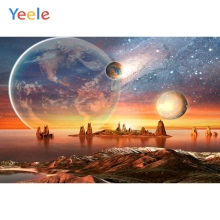 Yeele Earth Mountain Space Star Universe Backdrop Newborn Children Baby Birthday Photography Background Photo Studio Photocall