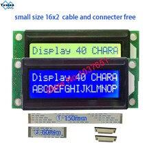 Módulo de pantalla LCD pequeño tamaño mini, 1602, 16x2, azul, verde, LC1629, HD44780, OM16213, FMA16213, LMB162XFW, PC1602 K