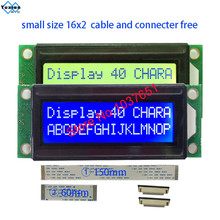 Petit mini taille 1602 16*2 module daffichage LCD bleu vert caractère LC1629 HD44780 au lieu OM16213 FMA16213 LMB162XFW PC1602 K