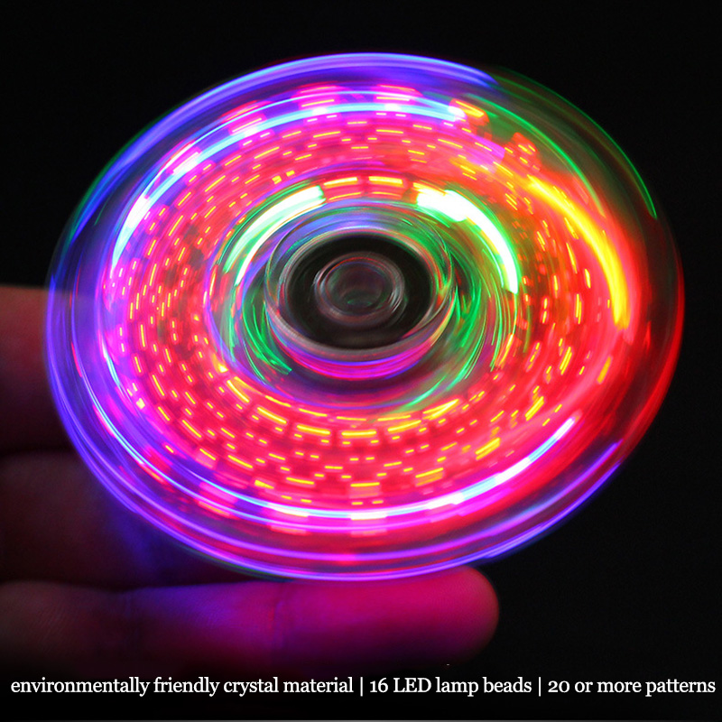 Fidget Spinner Gyroscope Autism Adult Toy Kinetic Anti-Stress Glow-In-The-Dark Children img5