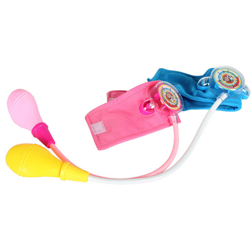 Estilo moda Imitação Brinquedo Kit Médico Médico de Família da criança Brinquedos do bebê crianças Set Casa Babá Boneca Playset da Pressão Arterial Médica