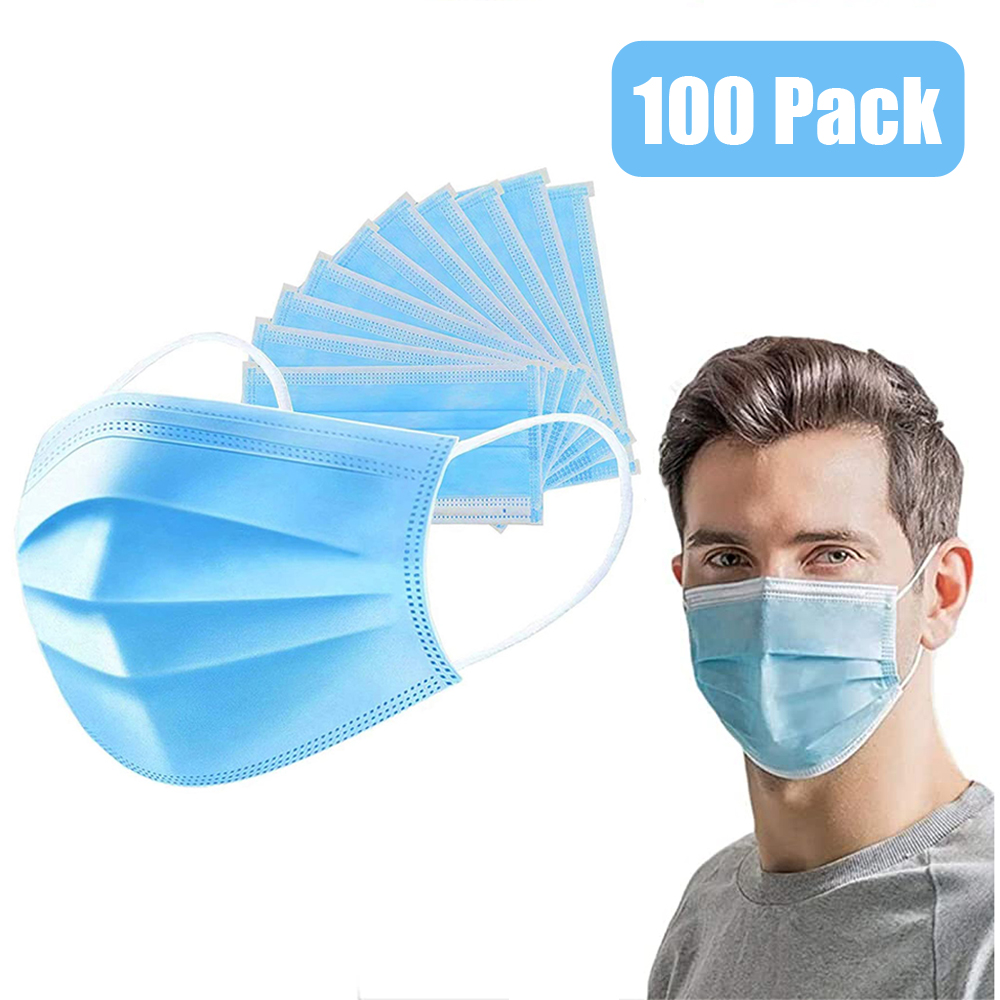 Face Mask  3-layer Mask 50/100 Pcs Mascarillas Masks Non Woven Disposable Anti-Dust Meltblown Cloth Masks