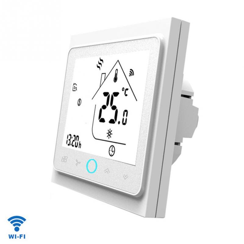 Wireless Touch Control Electric Universal Voice Sensing LCD Screen Air Conditioner WIFI Backlight Thermostat For Google Home