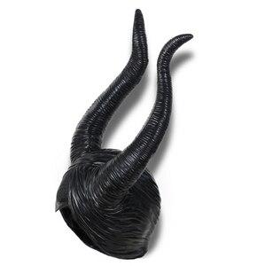 Image 3 - Maléfique masque la maîtresse du mal, accessoires de Cosplay, couvre chef unisexe, Halloween Angelina Jolie reine noire, couvre chef chapeaux