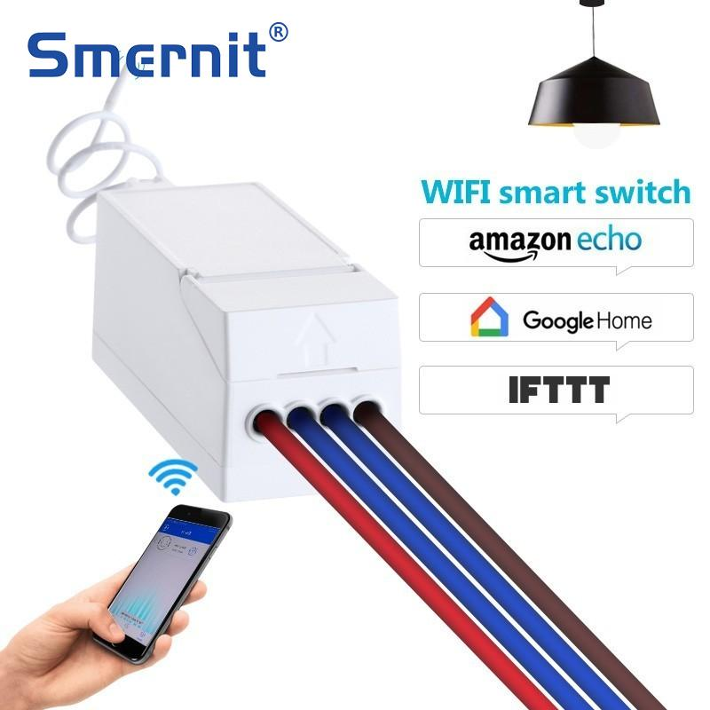 Smernit Wireless Wifi Switch 220v APP Remote Control Receiver DIY Smart Home Control Intelligent Universal Switch Accessories