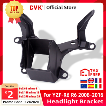 CVK Headlight Bracket Motorcycle Upper Stay Fairing For YAMAHA YZF 600 R6 2008 2009 2010 2011 2012 2013 2014 2015 2016 YZF-R6 for yamaha yzf r6 2008 2009 2010 11 12 13 14 complete all silver abs fairings 3mm thick injection plastic kits