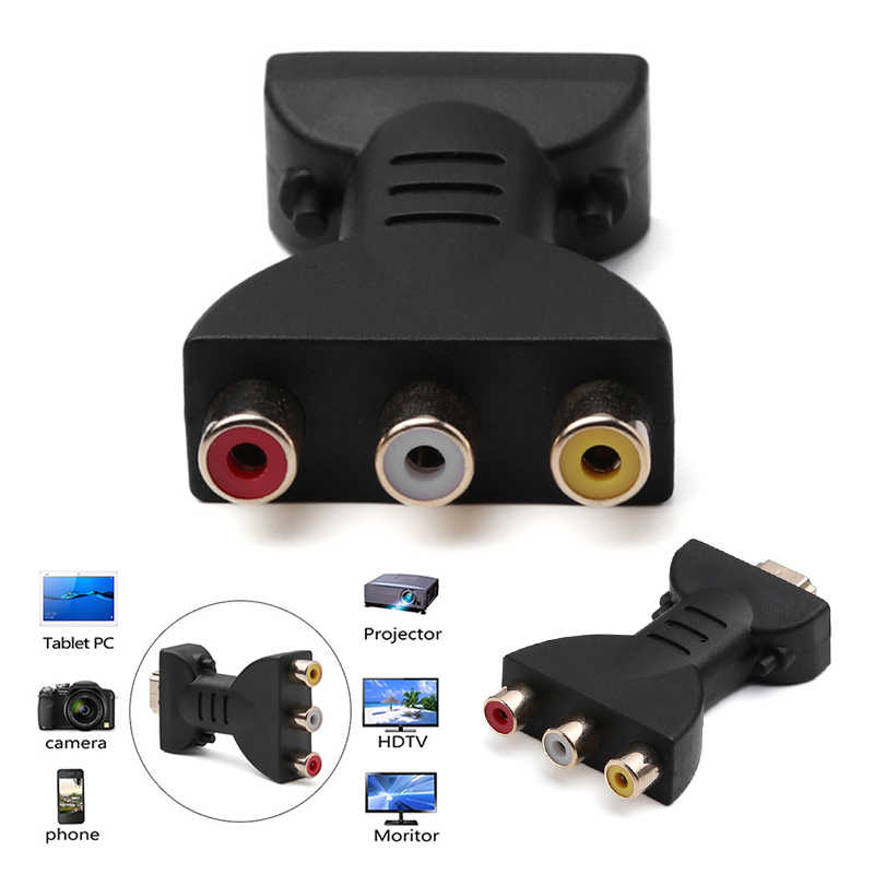 Newly  AV Digital Signal HDMI To 3 RCA Audio Adapter Component Converter HDMI to RGB RCA Component Converter r25