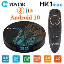 HK1 מקסימום חכם טלוויזיה תיבת אנדרואיד 10 4GB 64GB 32GB 128G Rockchip 2.4/5.8G wifi 1080P H.265 4K 60fps 2G 16G Google נגן ממיר