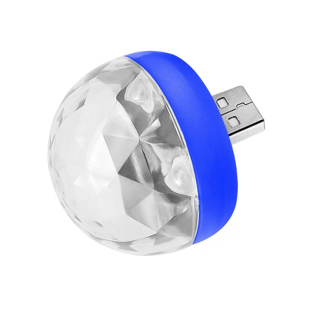 Мини USB СВЕТОДИОДНЫЙ диско этапа светильник Портативный Семья вечерние магический шар красочный светильник бар клуб сценическое освещение лампа для мобильного телефона - Цвет: blue