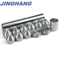 2X10 1/2 28 FUEL TRAP/SOLVENT FILTER For NAPA 4003, WIX 24003 6061 T6 Aluminum Silver