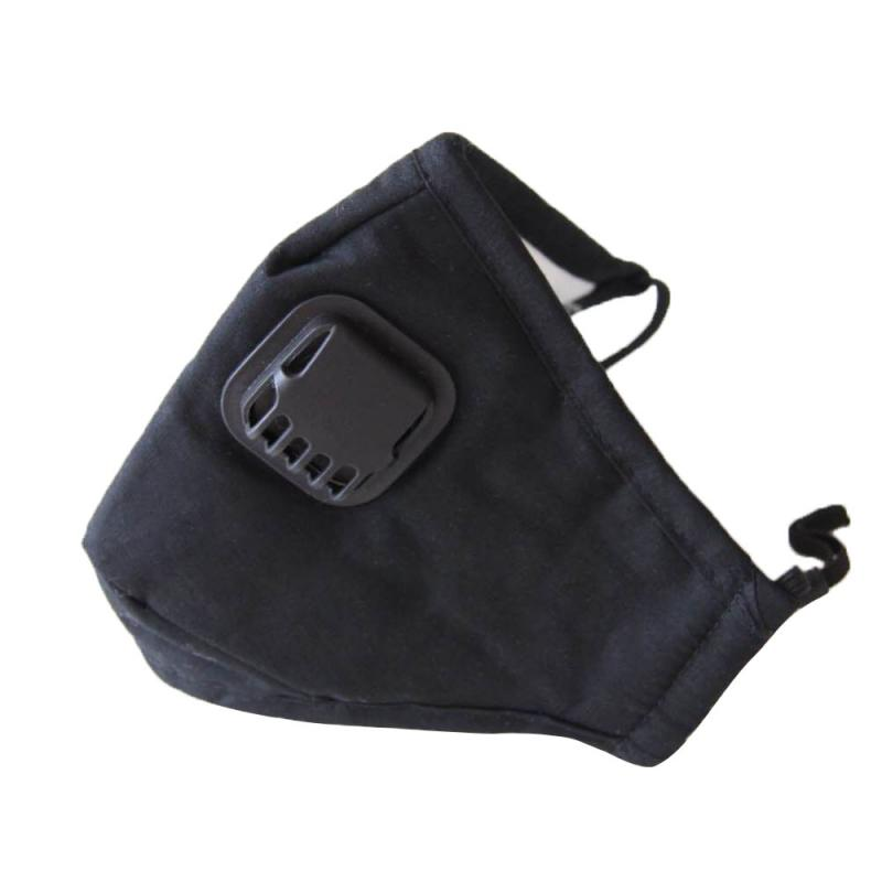 KN95 Black Mask Reusable Face Mouth Masks With Breath Valve Anti Air Dust Dust-proof Breathable And PM2.5 Masks For Men And Wome