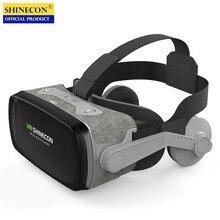 Ban Đầu VR Thực Tế Ảo 3D Hộp Kính Stereo VR Google Cardboard Tai Nghe Mũ Bảo Hiểm Dành Cho IOS Android Điện Thoại Thông Minh, Bluetooth Đính Đá