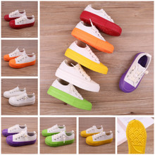 Kids Shoes for Big Girls Candy Color Canvas Anti Slip Bottom Leisure Children Mini Melissa for Big Boys Toddler Sneakers Trainer(China)