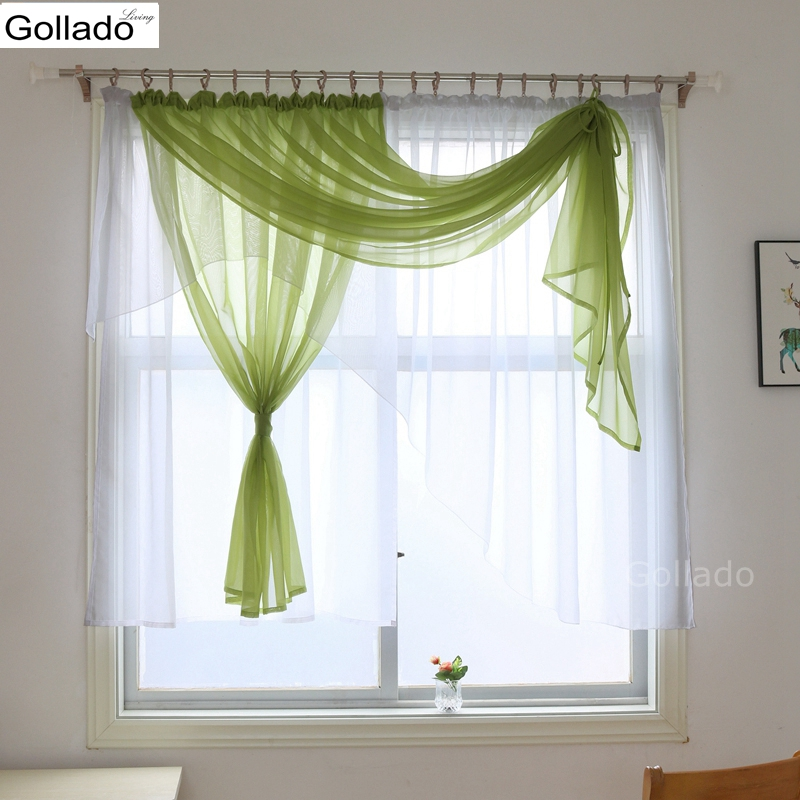 Europe Valance Style Luxury Voile Living Room Curtains Kitchen Bedroom Window Treatments Curtain