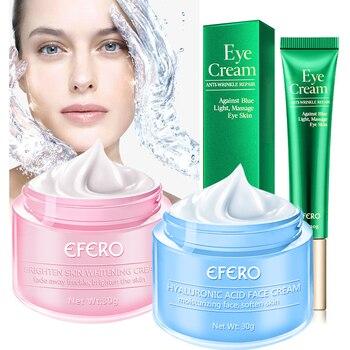 2PCS Face Cream Remove Freckle Anti-Wrinkle Whitening Face Cream Hyaluronic Acid Moisturizing Anti-aging Eye Cream Skin Care 1
