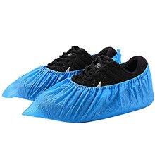 Бахилы одноразовые-100 упаковка(50 пар) одноразовые бахилы и бахилы одноразовые дождевые бахилы синие грязезащитные бахилы