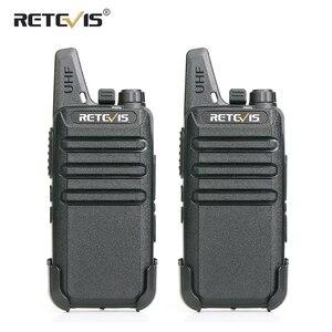 RETEVIS RT622 Walkie Talkie 2 pcs PMR446 PMR License-free Portable Walkie-talkies 2 pcs VOX Mini Two Way Radio Station FRS RT22
