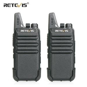 Image 1 - RETEVIS RT622 Walkie Talkie 2 pcs PMR446 PMR License free Portable Walkie talkies 2 pcs VOX Mini Two Way Radio Station FRS RT22