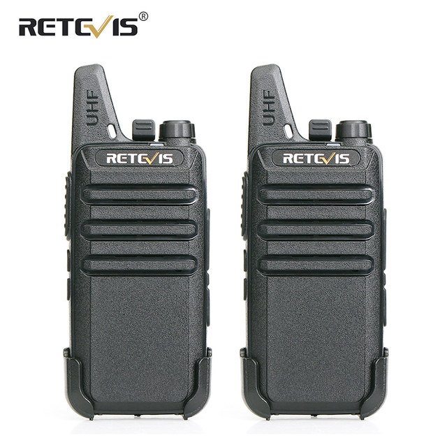 RETEVIS RT622 Walkie Talkie 2 pcs PMR446 PMR License free Portable Walkie talkies 2 pcs VOX Mini Two Way Radio Station FRS RT22