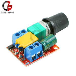 5A DC Motor Speed Controller 3-35V Smooth Soft Start Brushless Motor Speed Control Power Regulator(China)