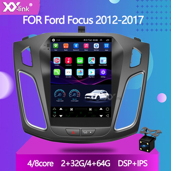 9.7 Tesla Style Android 10.0 Car Stereo gps navigation For Ford focus 2012-2017 aduio autoradio multimedia player no 2 din image