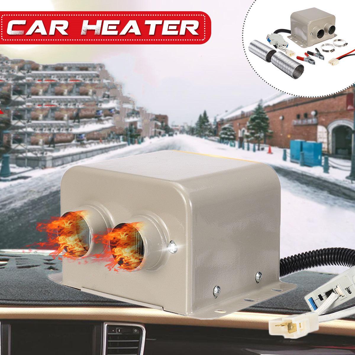 High Power 1200W/1500W Heating Fan Truck Car Auto Heater Winter Warm Dryer Glass Defroster Window Heater Interior Accessories