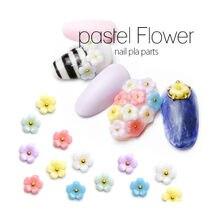 50 unidades/pacote japão coréia 3d decorações da arte do prego acessórios do prego kawaii bela flor peças do prego diy charme dicas do prego suprimentos