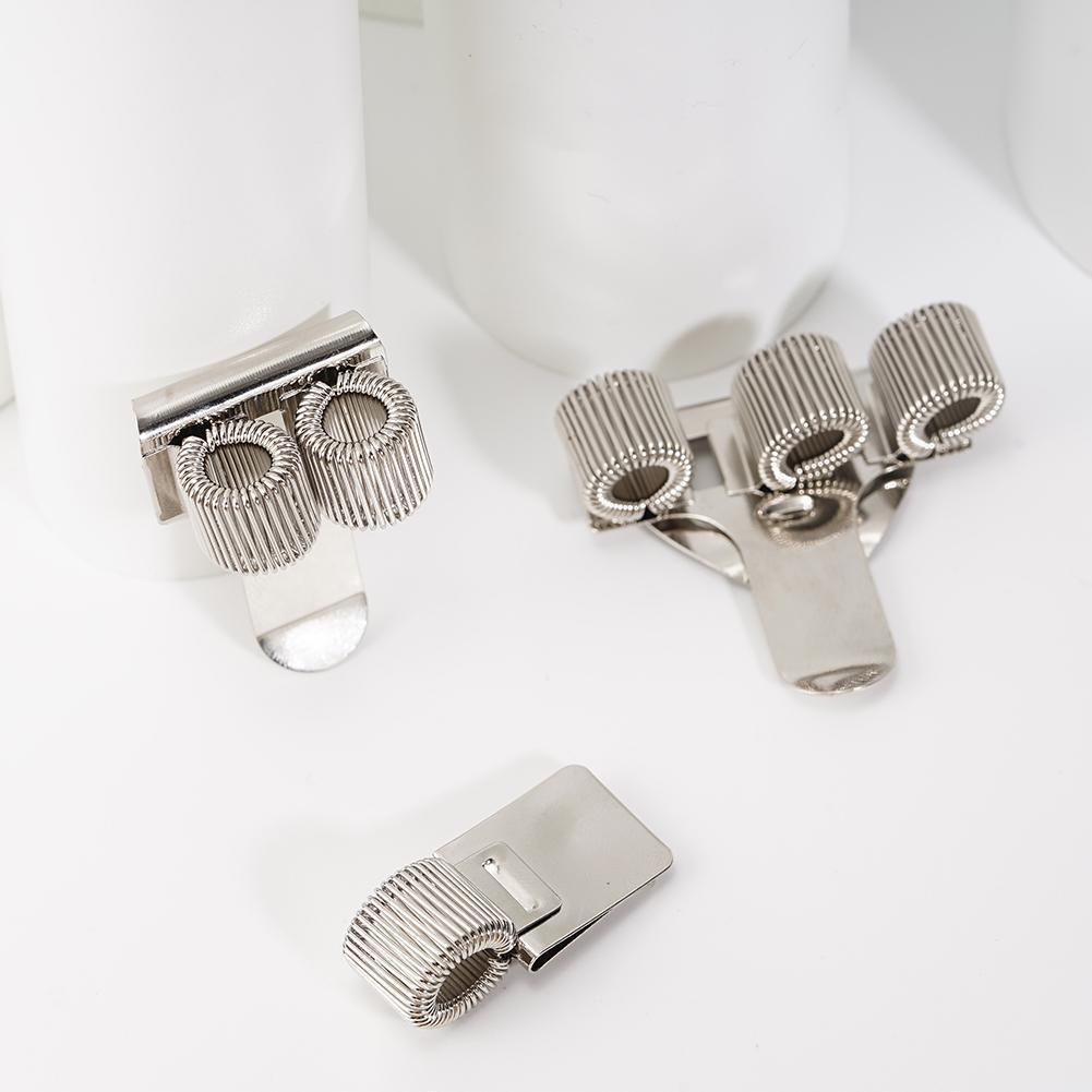 1 Pc Single/Double/Triple Hole Metal Spring Pen Holder Pocket Holders Pen With Uniform Clip Doctors Nurse M8I2