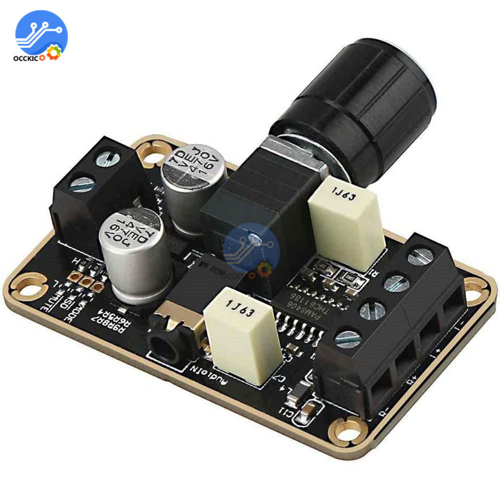 PAM8406 Digital Amplifier Board 5W+5W DC 5V Class D Stereo Audio AMP With Volume Control Sound Board