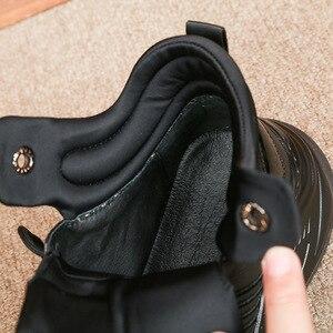 Image 3 - หนังแท้ 100% High Top รองเท้าผู้ชายยี่ห้อแพลตฟอร์มความสูงเพิ่มรองเท้าบู๊ทข้อเท้า Street ปัก Hip Hop สบายๆรองเท้าสีดำ