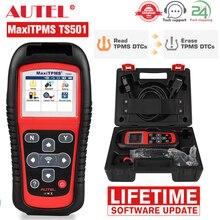 Autel herramienta de diagnóstico de coche MaxiTPMS TS501, servicio de activación/lectura de sensores, programación de datos, llave de control FOB/OBD 2