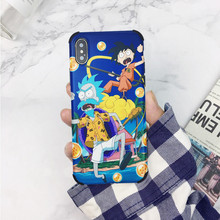 Cartoon rick and morty Dragon Ball z goku Funny cute Phone case silicone cover for coque iPhone 7 7 Plus 8 Plus X XR xs max case цена и фото