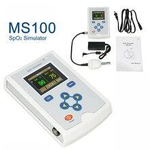 MS100 SpO2 Simulator Sauerstoff Sättigung Simulation Pulse Rate Sättigung Test Patienten Zustand Messung Gerät + SpO2 Sonde CE, FDA