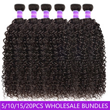 Kinky Curly Human Hair Weaves Wholesale Bundles Price 3 6 10 Lots Double Weft Human Hair Bundles 10A virgin Hair Extension