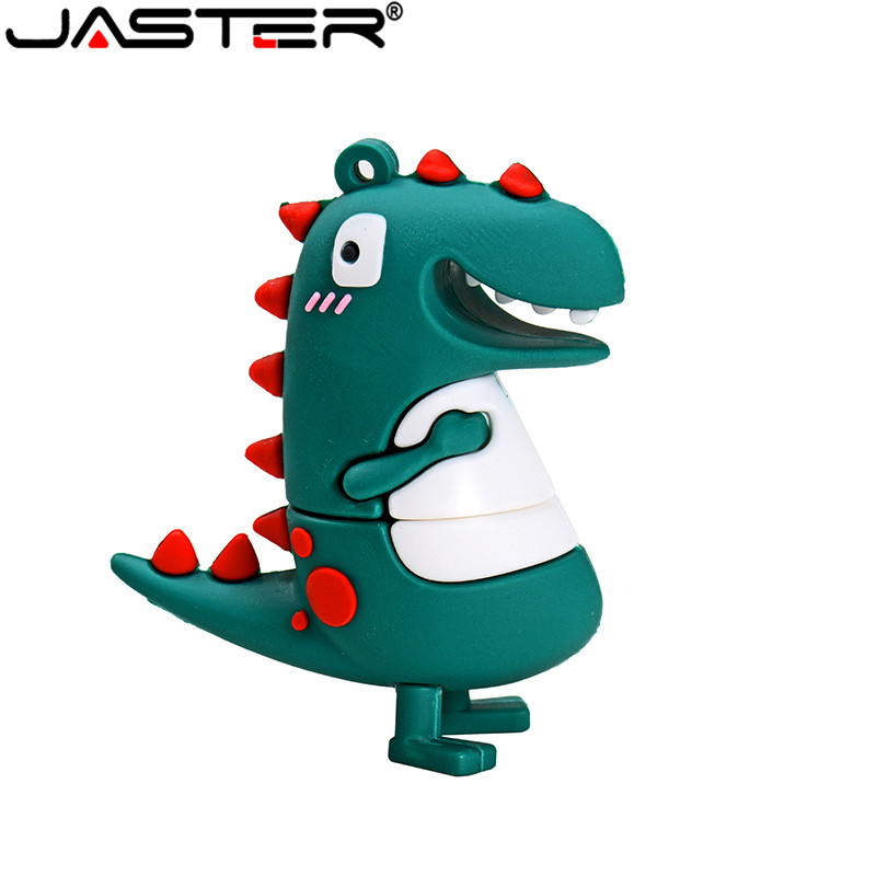 JASTER USB 2.0 Wholesale Small Dinosaur Cartoon Cartoon U Disk 4GB 8GB 16GB 32GB 64GB USB 2.0 High Speed Flash Drive