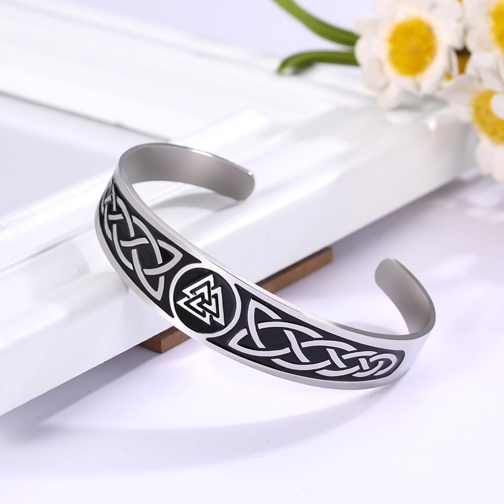 Valknut Nordic Cuff Bracelets