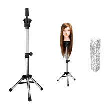 Mannequin Stand Adjustable Tripod Stand Holder Hairdressing Training Head Mold Mannequin Salon Hair Clamp with a beautiful box