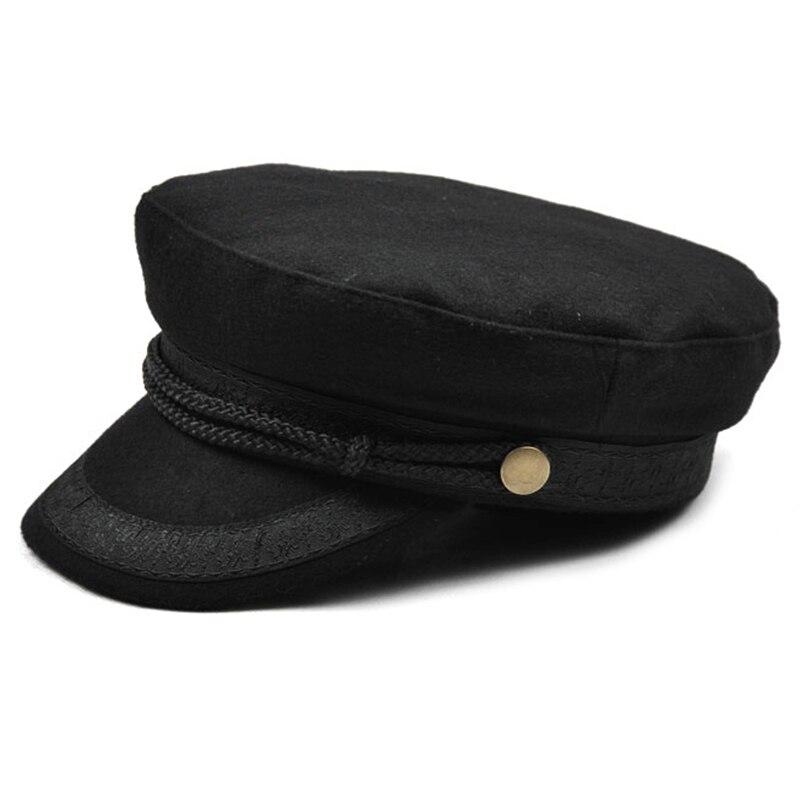 Hat Flat Top Hats For Women Black Female Cap