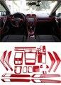 1 лот  автомобильные наклейки  ABS  красное углеродное волокно  внутри  декоративная крышка для 2009-2013 Volkswagen VW golf 6 MK6