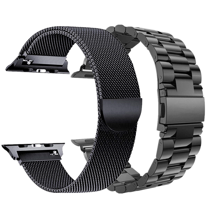 Combination Strap For Apple Watch Band 38mm 40mm 42mm 44mm Stainless Steel Bands And Milanese Loop Bracelet For IWatch 1 2 3 4