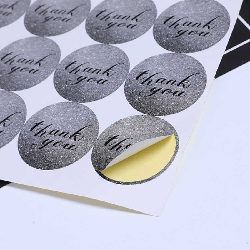 120pcs/pack Seal Sticker For Gifts Scrapbooking Customized DIY Self-Adhesive Thank You And Handmade Multiple Styles