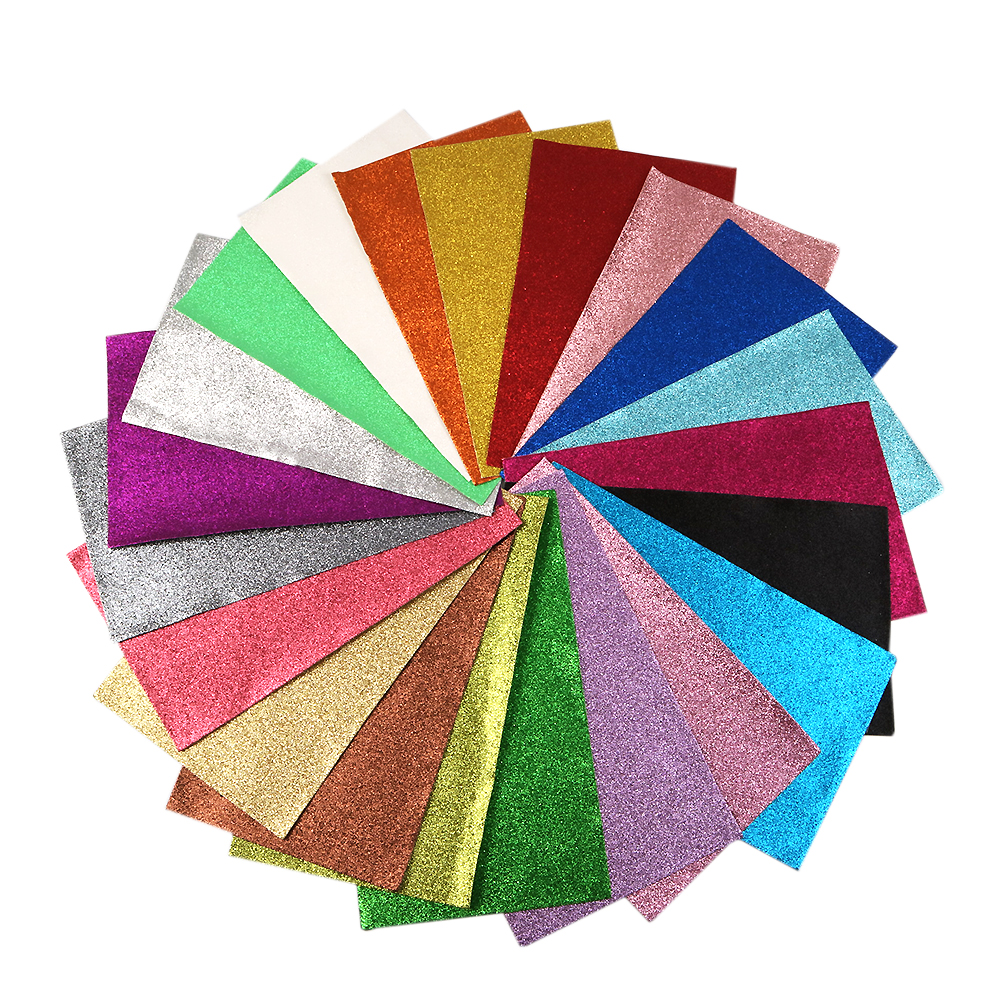 David Accessories 20*34cm Glitter Faux Artificial Synthetic Leather Fabric Hair Bow Diy Decoration Crafts  21 Color/pack,1Yc5437