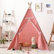Палатка-вигвам детская складная, портативный домик для младенцев, декоративный ковер, деревянный игровой домик, игрушка