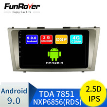 Funrover Android 9.0 2.5D + Ips Autoradio Multimedia Player per Toyota Camry 40 2007-2011 Dell'automobile Dvd Gps sistema di Navigazione Stereo Rds(China)