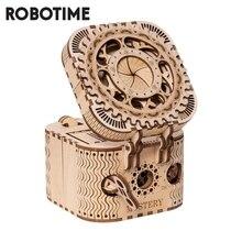 Robotime Kreative DIY 3D Schatz Box Holz Puzzle Spiel Schmuck Lagerung Box Montage Spielzeug Geschenk für Kinder Jugendliche LK502