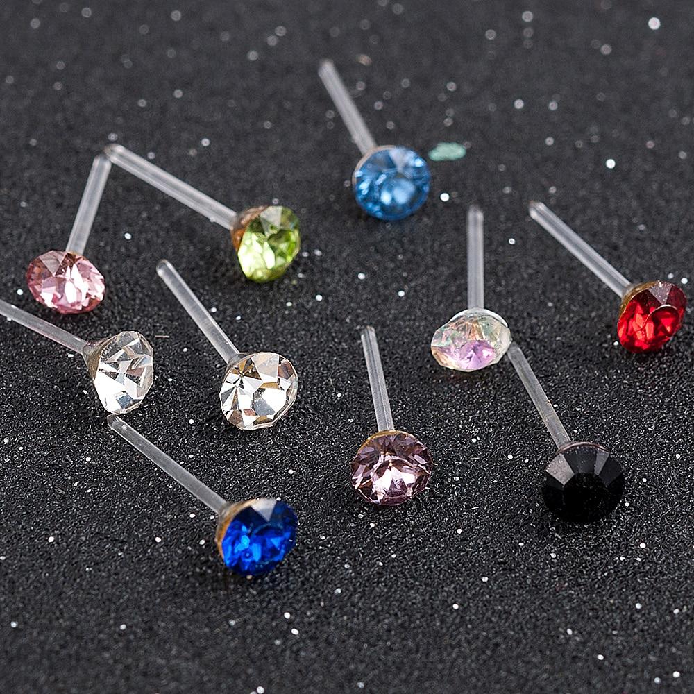 20 Pair/Set Women Girl Rhinestone Crystal Ear Stud Earrings Party Eelgant Earring Jewelry Gift 2 3 4 5mm