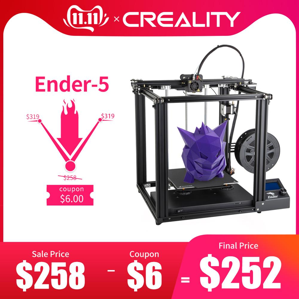 CREALITY 3D Printer Ender 5 Dual Y axis Motors Magnetic Build Plate Power off Resume Printing Enclosed Structure-in 3D Printers from Computer & Office