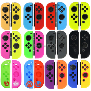 Image 2 - Silicone Rubber Skin Case Cover For Nintend Switch JoyCon Controller For Nintendoswitch NX NS Joycon Grip